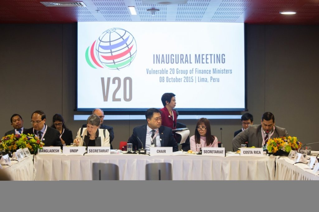 Founding of the V20: Lima, Peru, October 2015 Founding Chair: Philippines